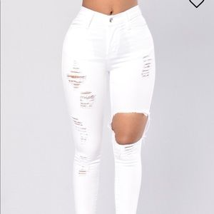 Glistening jeans